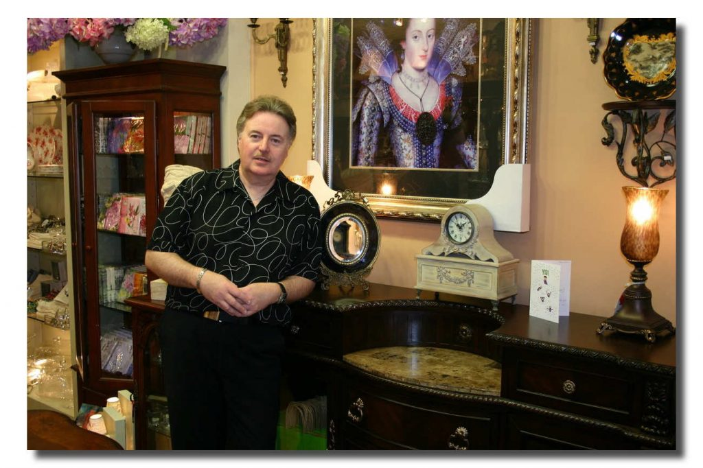 Kent at the Home Accents Emporium in Oakville, Ont